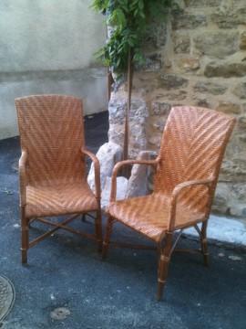 L atelier des 2 anges jardin - Coussin pour fauteuil en rotin ou osier ...
